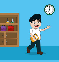 School and student vector