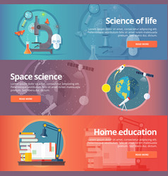 science of life biology astronomy study of vector image