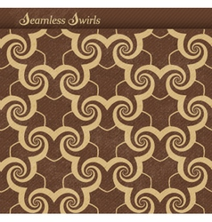 Seamless pattern with spirals swirls vector image