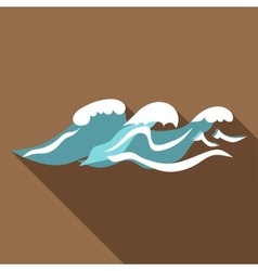 Seaway icon flat style vector image