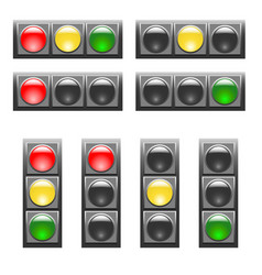 set of horizontal and vertical traffic lights vector image