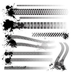 Set of tire tracks vector