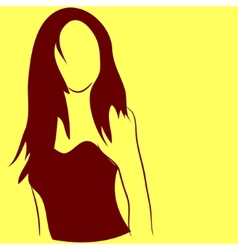 Silhouette girl vector