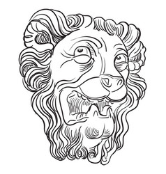 stone lion 9 vector image