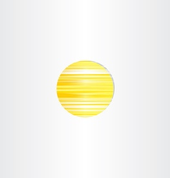Sun icon abstract energy symbol vector