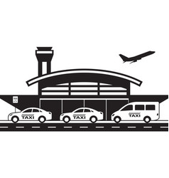 Taxi service to and from airport vector
