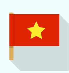 Vietnam flag icon flat style vector