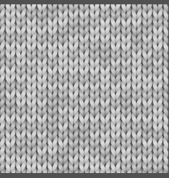 White and gray realistic knit texture seamless vector
