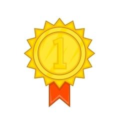 Winner gold rosette icon cartoon style vector image