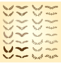 Wreaths and branches vector image