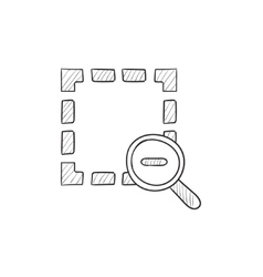 Zoom out sketch icon vector image