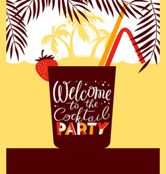 Cocktail party holiday invitation background for vector