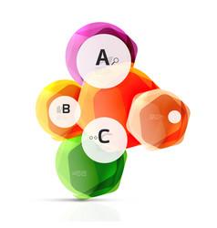 glass modern geometrical hexagon abstract vector image vector image