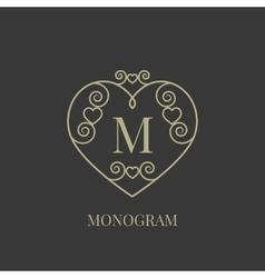 Heart monogram vector image