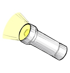 metallic flashlight vector image vector image