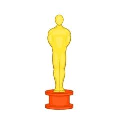 Cinema gold award icon cartoon style vector image