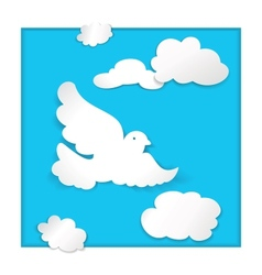 dove flying in the sky vector image