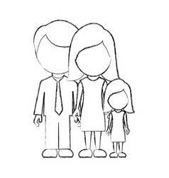 figure family with their dougther icon vector image vector image