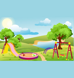 kids playground set of vector image
