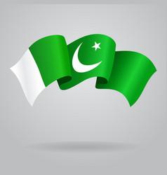 Pakistani waving Flag vector image vector image