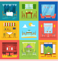 restaurant interior cafe decor dining vector image