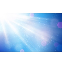 Abstract blue white sun light bokeh vector image