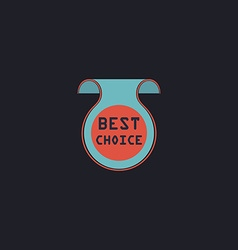 Best Choice computer symbol vector image