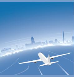 Buenos aires skyline flight destination vector