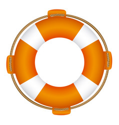 colorful flotation hoop with rope vector image vector image