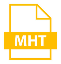 file name extension mht type vector image