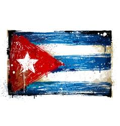 Grungy Cuban flag vector image