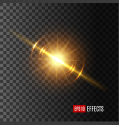 light flash or sunshine effect icon vector image