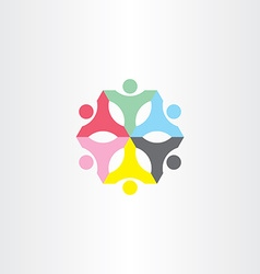 people teamwork color sign logo vector image