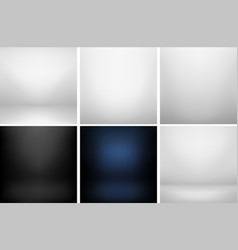 collection of studio backgrounds vector image vector image