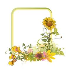 colorful floral frame vector image