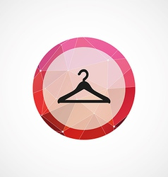 Hanger circle pink triangle background icon vector image vector image