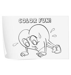 Heart Coloring worksheet vector image