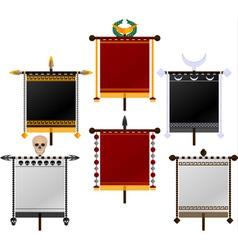 set of standards vector image vector image