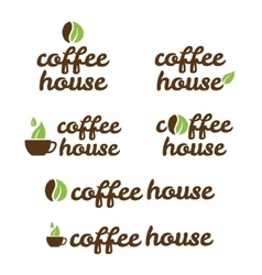 symbol of coffe house vector image vector image