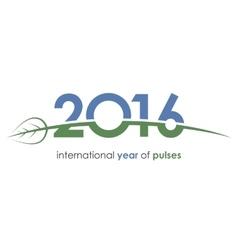 2016 pulses international year pulses green vector image