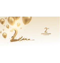 2nd anniversary celebration background vector