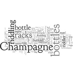 A look at champagne racks vector