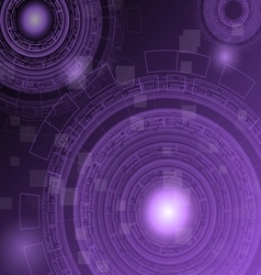 Abstract dark purple technology futuristic vector image