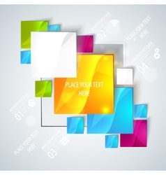 Abstract glossy geometric background vector image
