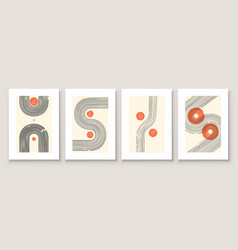 abstract in minimal style for wall vector image