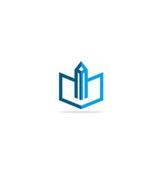 abstract open book study logo vector image