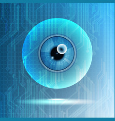 abstract technological eye scanning isolated vector image