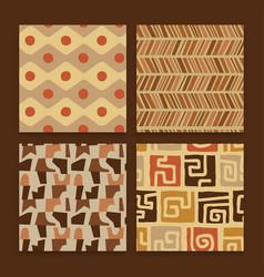 africa tribal art ethnic seamless pattern set vector image