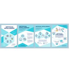Artificial intelligence brochure template vector