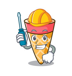Automotive ice cream tone mascot cartoon vector
